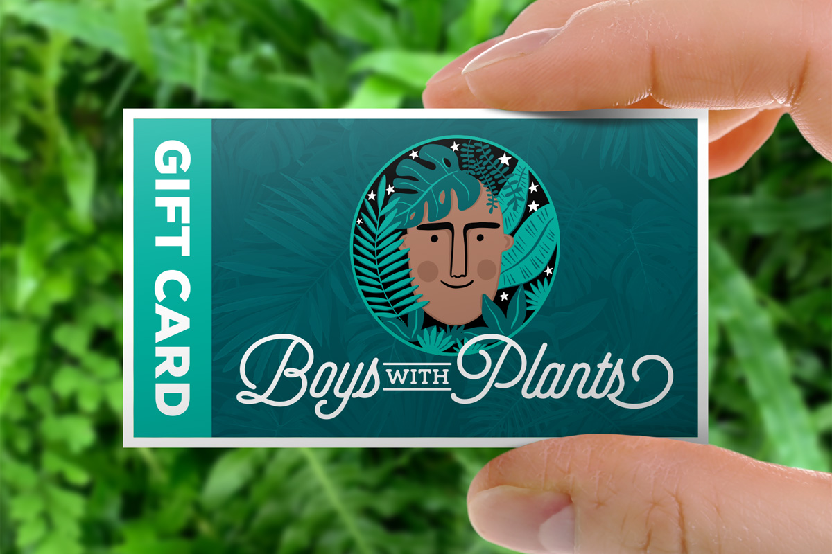 Let your planty friend pick the perfect item with the Boys with Plants Gift Card